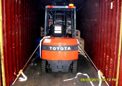 Forklift-loaded-in-container